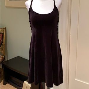 JUICY COUTURE BLACK LABEL SIDE LACED VELVET DRESS